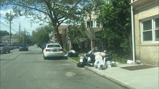 Garbage on South Fifth Avenue in Mount Vernon on Tuesday, June 4, 2019, the second day that garbage was not picked up citywide because the city ran out of diesel fuel due to unpaid bills