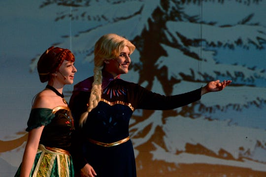 """Disney Frozen Jr."" opens at 7 p.m. tonight and 1 p.m. & 5 p.m. Saturday at the Wichita Theatre. The musical continues from June 14 to 16, and June 21 & 22. There will also be a special Crystal Palace After Party at the Stage 2 Dinner Theatre running after each performance - excluding June 21. Elsa (Annie Scales) Anna (Emily Gill)"