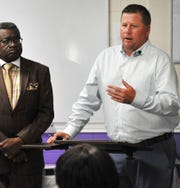 YMCA of Wichita Falls president and CEO, Brandon Brown announced the donation of their east side facility, located on Tulsa Street, to the not-for-profit All Hands Cultural Community Center during a press event held at center, Tuesday afternoon.