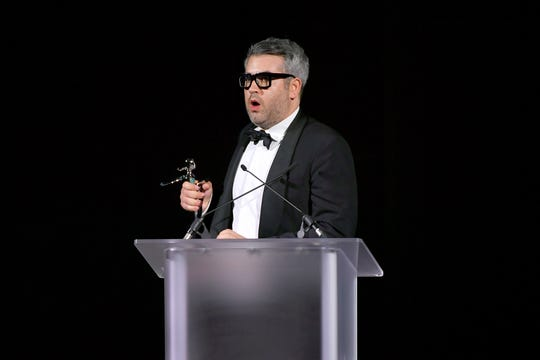 Brandon Maxwell speaks onstage during the CFDA Fashion Awards at the Brooklyn Museum of Art on June 03, 2019 in New York City.
