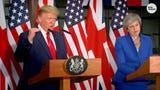 President Donald Trump predicted Britain would follow through with plans to leave the European Union and said the exit would be good for the country.