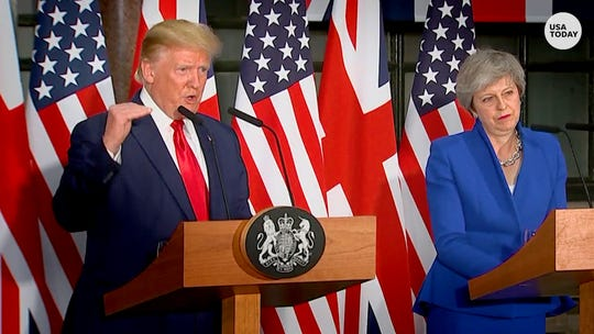 Trump: Brexit 'good' for U.K., credits P.M. May negotiations