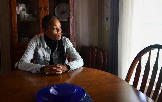 Kyshawna Johnson, 23, has experienced homelessness while pursuing a degree from California's Citrus College but she has seen her grades soar after getting housing through the community organization Jovenes