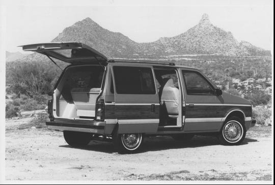 The 1984 Plymouth Voyager.