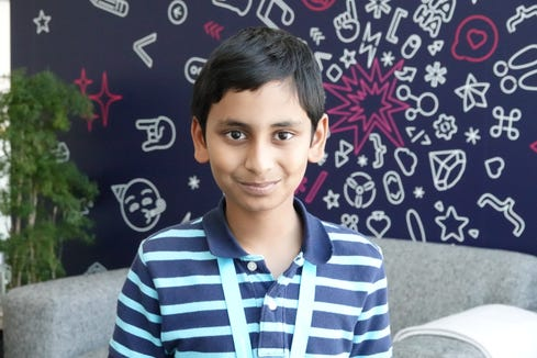 Ayush Kumar, a ten year old app developer attending the Apple WWDC conference on a student scholarship