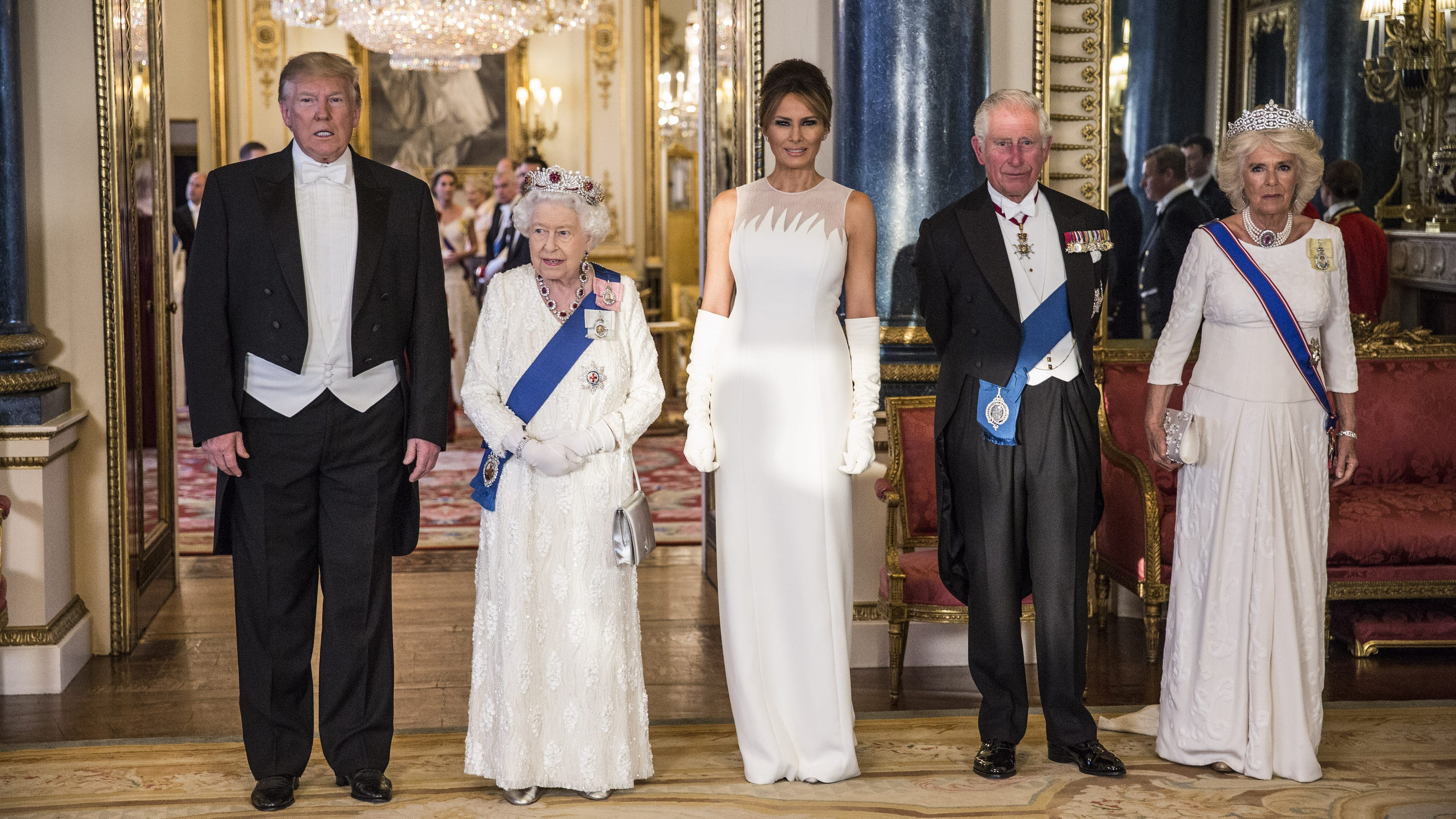 Trump's 'ill-fitting' tux mocked on Twitter after queen's banquet
