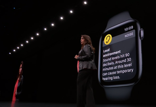 One new feature coming to Apple Watches is monitoring the sounds around you.
