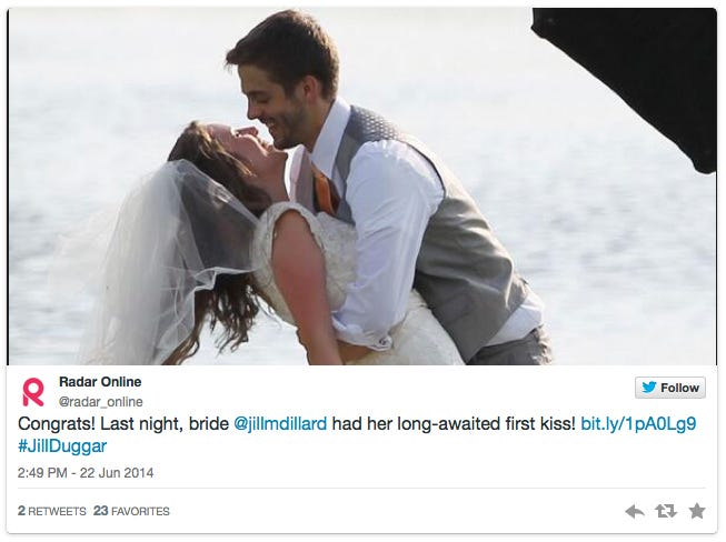 """Jill (Duggar) Dillard married Derick Dillard in 2014 and said she's always hated hearing about the impending end of the """"newlywed phase.""""  A marriage's fire doesn't have to die out, she said, and she shared some bedroom tips."""