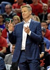 Warriors head coach Steve Kerr has led the team to three titles in four seasons.