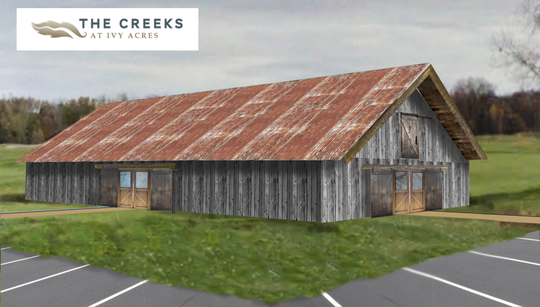 Artist's rendering of The Barn at Ivy Acres, on the golf course The Creeks at Ivy Acres in Hortonville.