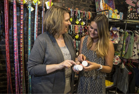 Kigh of Howell is a company that offers cannabidiol products made to keep humans and animals healthy. Paws Pet Boutique in Asbury Park sells the local company's products. Ruth Kiser, owner of Paws Pet Boutique, talks with Nicole Neukum owner of Kigh CBD.
