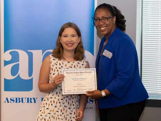 Student Voices Awards reception at the Asbury Park Press in Neptune, NJ on June 4, 2019 where students at different grade levels received  awards for outstanding essays and video entries.