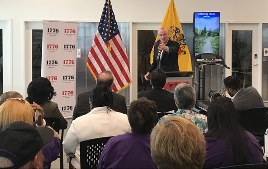 New Jersey Gov. Phil Murphy promotes his economic incentives plan on Wednesday, June 5, 2019 at 1776, a small business incubator in the Cherry Hill Mall.