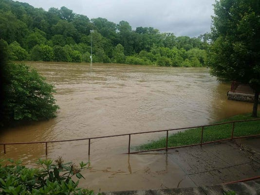 The John B. Lewis Soccer Complex in East Asheville sustained heavy flooding in May 2018, and cleanup took about a year.