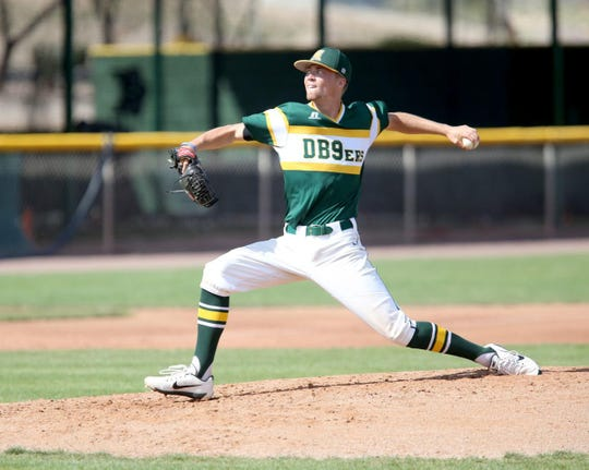 Lucas Knowles pitches for Central Arizona College in 2019. The South Kitsap alum was selected by the Washington Nationals during Wednesday's draft.