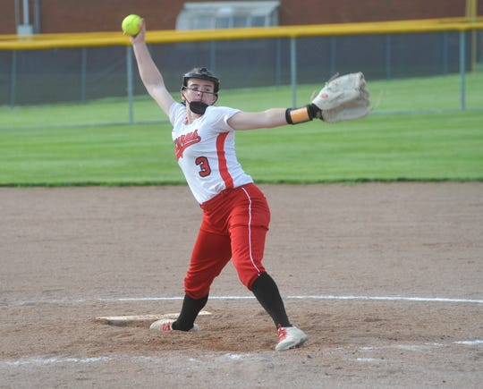 Junior Caleigh Rister was on pace to break 500 career strikeouts this season.