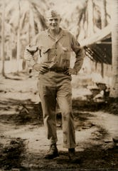Vermont Army National Guard veteran Glen Goodall poses while serving during World War II. Photo available on DVIDS courtesy of the Goodall family.
