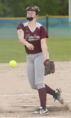 Kelleigh Simpson fires to the plate on Tuesday.