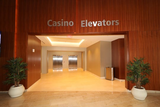 Elevators now connect the lobby to the casino floor at Ocean Casino Resort in Atlantic City.