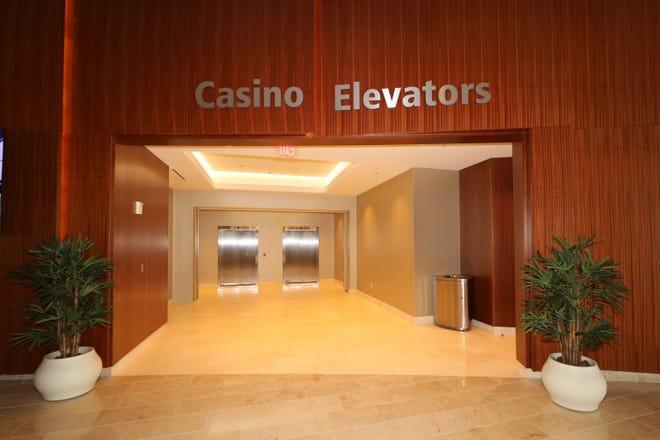 Elevators now connect the lobby to the casino floor at Ocean Casino Resort in Atlantic City.