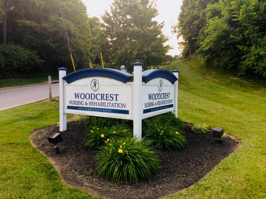 The entrance to Woodcrest Nursing & Rehabilitation Center in Erlanger. The facility is a candidate for a list of the nation's most troubled nursing homes, federal documents show.