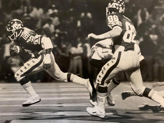 Eric Ellington scores a Moeller touchdown in the first quarter of their  Sept. 15, 1979, game against Princeton.