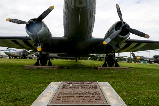 Planes used by the 101st Airborne Division including ones used during D-Day can be seen at the Pratt Museum in Fort Campbell, KY., on Tuesday, June 4, 2019.
