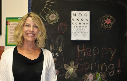 Roosevelt's Sharon Dorry, this year's recipient of the Optimist Club's Intermediate School outstanding teacher award