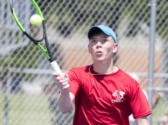 Cameron Luhring took home the Class 1A singles title in Waterloo.
