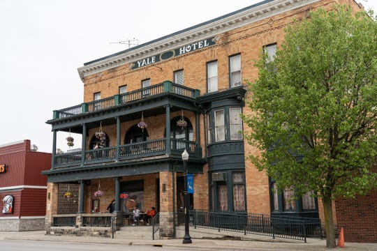 The Yale Hotel in Yale is seen on Thursday, May 30, 2019. The manager of the hotel, Shelley O'Brien, has invited women in states that have recently restricted access to abortion to come to Michigan. O'Brien offered in a Facebook post to put the women up for free at the hotel, and provide them transportation to their medical appointments.