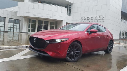 Work of art. With its gorgeous, organic lines and Soul Red paint, the 2019 Mazda 3 belongs in a museum. It sets the standard for hatchback looks.
