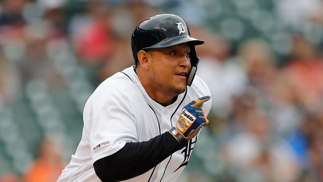Miguel Cabrera had a fine night at the plate Tuesday but he needs replacing at first base,