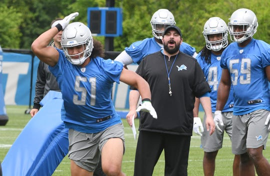 "Coach Matt Patricia, center, and the Lions won't be featured on HBO's ""Hard Knocks"" this season."