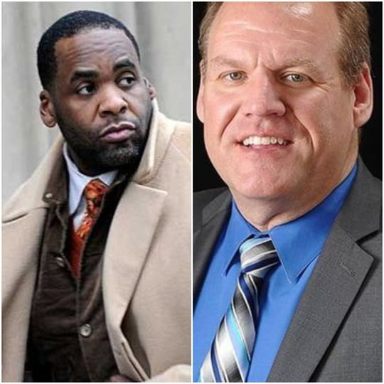 Kwame Kilpatrick, left, and Dean Reynolds.