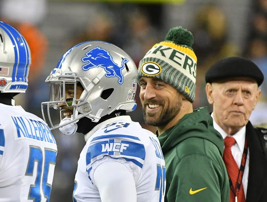 Packers quarterback Aaron Rodgers playfully shot back at his QB colleagues over beer guzzling.