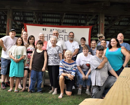 Members of the Henson family, originally from Waverly, gather for a photo during their 2014 reunion. The family is planning its 100th reunion this summer.