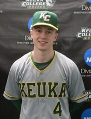 Brooks Vertoske, a junior shortstop at Keuka College and a graduate of Horseheads High School.