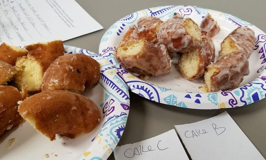 Best job ever? Courier & Press staff sampled glazed and cake doughnuts from 6 area locations.