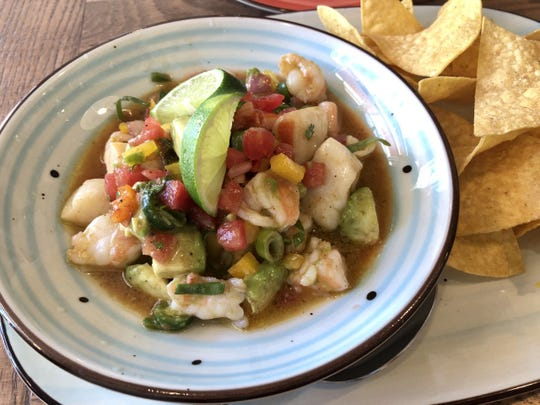 Shrimp and scallop ceviche ($11) from Tino's Southwest Kitchen in south Fort Myers.