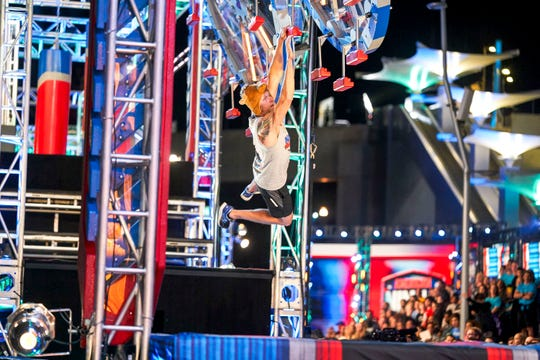 "Cape Coral teacher Morgan ""Moose"" Wright competes on Wednesday's episode of ""American Ninja Warrior."" It's his fourth season competing on the NBC show."