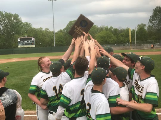 Green Bay Preble celebrates another WIAA Division 1 sectional title on Tuesday.