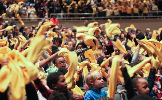 Students from South Carolina schools perform during an event supporting school choice at the Township Auditorium during the annual National School Choice Week, Jan. 25, 2017