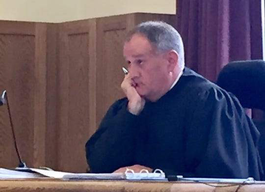 First District Court Judge Michael McMahon listens Wednesday to attorneys for Gov. Steve Bullock and Secretary of State Corey Stapleton.