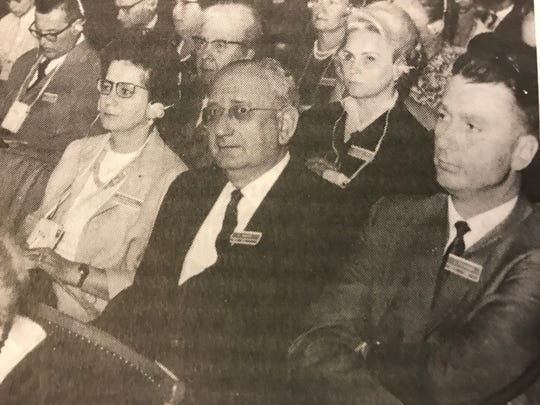 Laurence Pilgeram, right, was a delegate for the United States to the International Congress on Aging in Vienna, Austria in 1966.