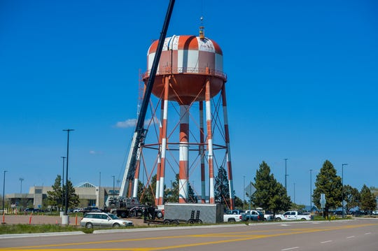 The old water tower on Gore Hill was constructed in 1962. The leaky tower was demolished, with work finishing up earlier this month.