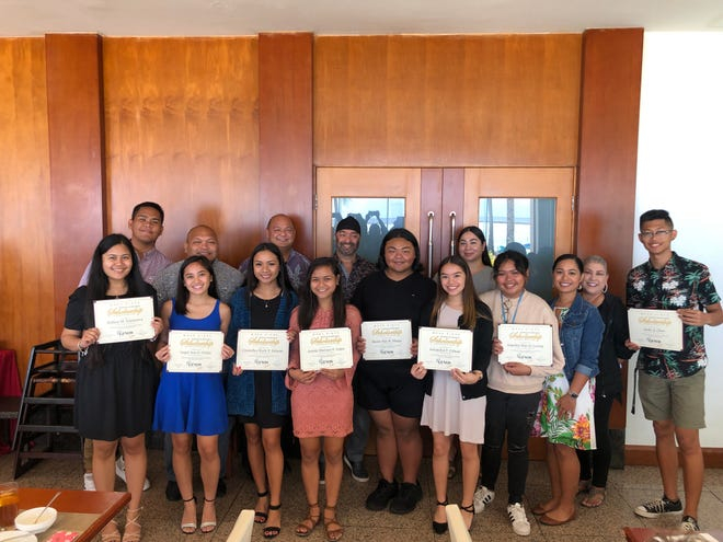 Twelve students from Guam Department of Education high schools were awarded the Moda Ginos Partners-In-Education Scholarship award. The scholarship for School Year 2019-2020 provides $1,000 to each public high school scholarship recipient attending either the University of Guam or Guam Community College. The scholarship aims to defray the cost of purchasing textbooks each semester, and is granted based on a combination of selective factors including grade point average, leadership, citizenship and financial need. The students include: Jgeth Bautista, George Washington High School, Trisha Canlas, George Washington High School, Jacky Chen, John F. Kennedy High School, Angelica Mae Losing, John F. Kennedy High School, Jacquelyn Cabusi, Okkodo High School, Angel Ann Orlino, Okkodo High School, Crystallan Marie Bunoan, Simon Sanchez High School, Sydney Espinueva, Simon Sanchez High School, Aurienne Cruz, Southern High School, Amista Mariana Lujan, Southern High School, Keanu Ray Masga, Tiyan High School and Rhozzenda Valdez, Tiyan High School.