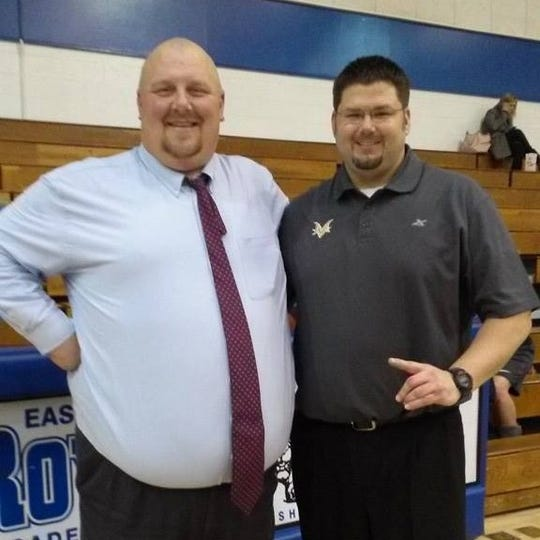 Eastern Hancock's Clayton Shultz (left) is battling a rare and aggressive form of cancer called Burkitt lymphoma. On right is longtime friend Andy Williams.