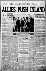 Indianapolis Star front page from June 7, 1944