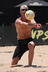 Chase Budinger says it's taken a commitment to learn the game of beach volleyball.