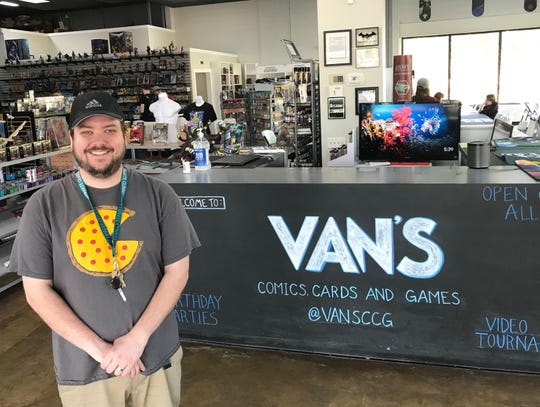 Travis Ryder of Brandon owns Van's Comics, Cards & Games along with his brother-in-law, Charles Breunig of Flowood, who is not pictured.